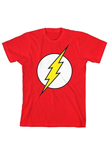 DC Comics Flash Boy's Glow in The Dark Tee Medium Red (Flash Shirts For Girls)