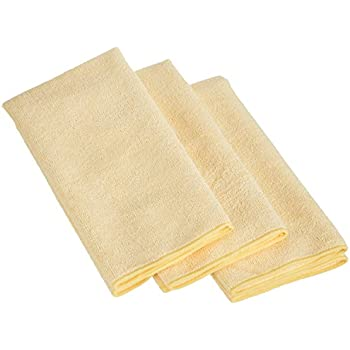 AmazonBasics Thick Microfiber Cleaning Cloths - 3 Pack