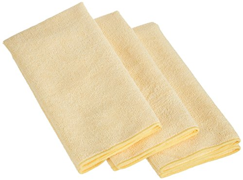 (AmazonBasics Thick Microfiber Cleaning Cloths - 3 Pack )