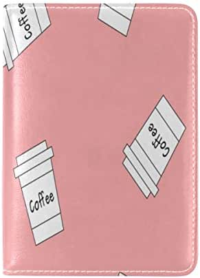 Passport Cover Case Water Glass Container Daily Necessities Leather&microfiber Multi Purpose Print Passport Holder Travel Wallet For Women And Men 5.51x3.94 In