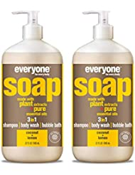 Everyone 3-in-1 Soap, Coconut and Lemon, 32 Fl Oz, Pack of 2