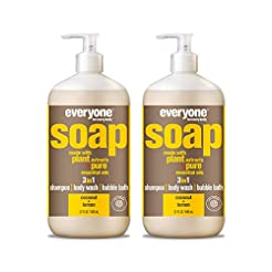 Everyone 3-in-1 Soap, Coconut and Lemon,...