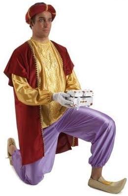 Disfraz o traje Paje del Rey Baltasar extra adulto: Amazon.es ...