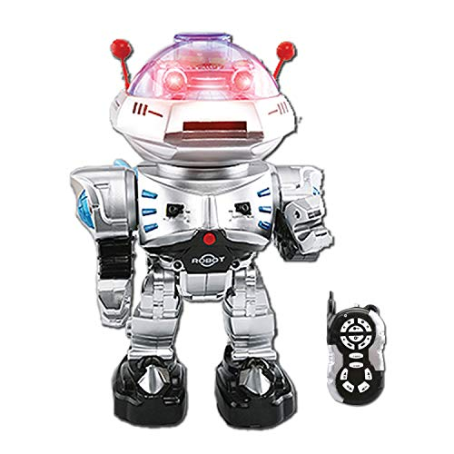 (YARMOSHI Remote Control Combat Robot Toy - Shoots Disks Flashing Lights Sings Dances Plays Music & Battle Sounds Walks Forwards and Backwards Rotates 360o. Fun Gift for Girls & Boys Age 5+.)