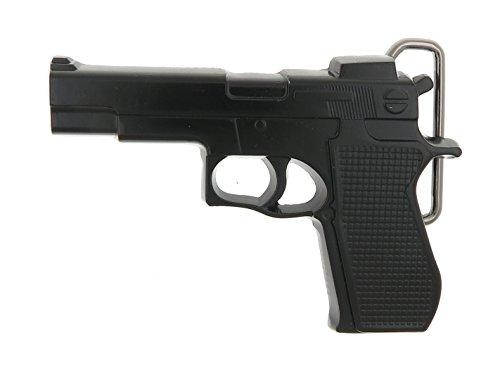 Hand Gun Black Belt Buckle