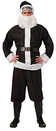 Rubie's Bah Humbug Santa Suit, Black/White, Standard -