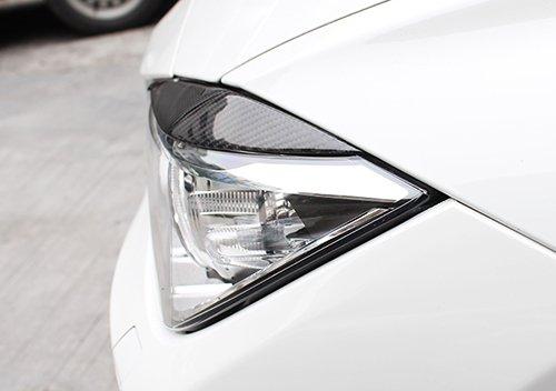 2x Genuine Real Carbon Fibre Fiber Headlight Light Brow Cover Eyelid Eyebrow For 2012-up 3 Series F30 F35 Saloon
