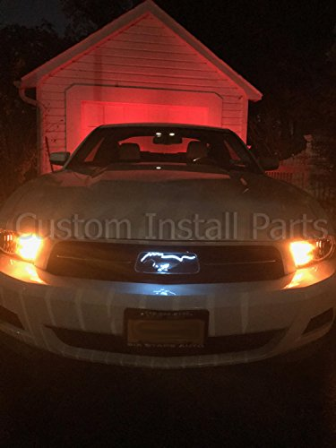Led Light Up Pony White Emblem Front Radiator Grille Grill