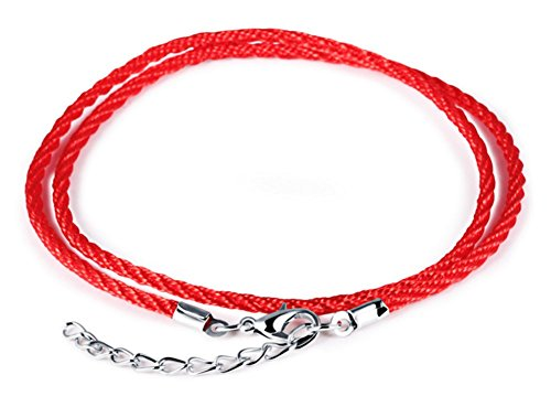 TomSunlight Handmade Braided Double Layer Rope Chain Lucky Red String Anklet