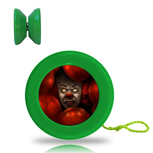 Creepy Clowns on Halloween Eve Yoyo Unresponsive ABS Professional with Ball Bearing and Extra Spinning String for Tricks (Online Halloween Contest 2017)