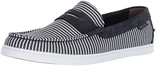 Cole Haan Men's Loafer II, Nantucket Stripe Canvas/Navy Ink Nubuck, 12 M US