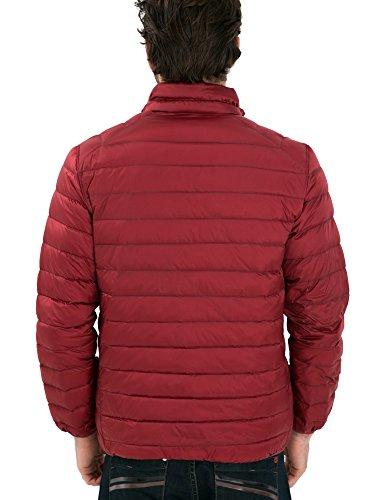 Basso Uomo Rosso nero 2016 Ciliegia Pulcino Violaceo Stile Nuovo Giacca Verso Il Reversibili 'leggero q0CwHpnfg