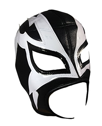 [SHOCKER Adult Lucha Libre Wrestling Mask (pro-fit) Costume Wear - Black/White] (Shocker Costume)
