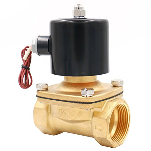 (Baomain 1-1/2 inch DC 24V Brass Electric Solenoid Valve Water Air Fuels NC Valve)