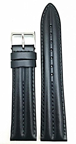 NewLife Black Twin Padded, Matte leather 20mm