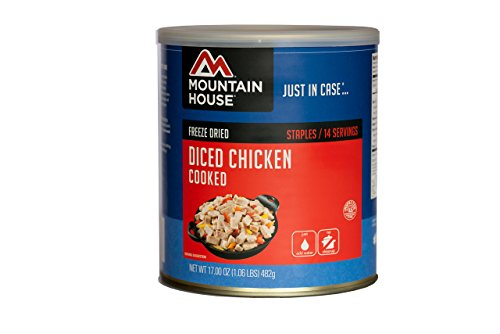 Mountain House Cooked Diced Chicken #10 Can - Freeze Dried Recipes