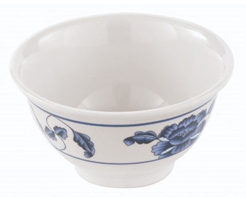 - Paderno World Cuisine 3-1/2-Inch Melamine Soup Bowl, Asian Flower Design