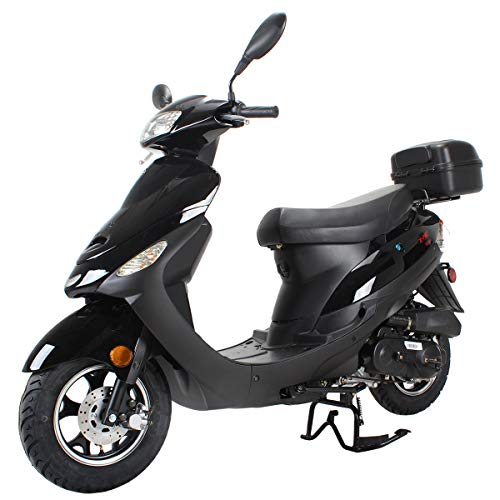 X-Pro 50cc Moped Scooter Gas Moped Scooter 50cc Moped Street Scooter,Black