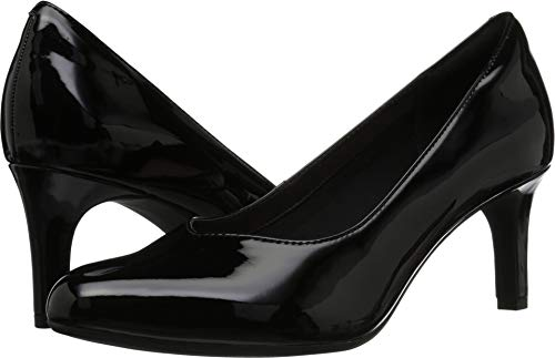 CLARKS Women's Dancer Nolin Pump, Black Synthetic Patent, 095 M ()