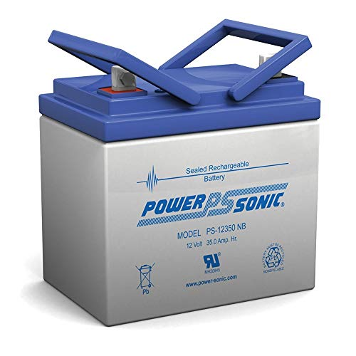 Powersonic 12V 35Ah U1 Deep Cycle AGM Solar Battery Also Replaces 33Ah, 34Ah, 36Ah
