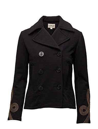 Denim & Supply Ralph Lauren Womens Knit Embroidered Pea Coat Navy - Cotton Blazer Embroidered