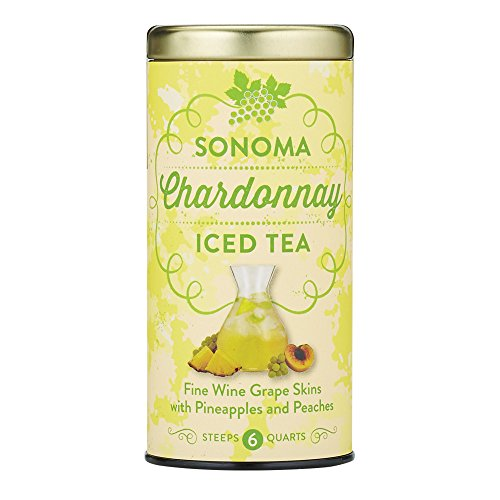California Chardonnay Wine - The Republic Of Tea Sonoma Chardonnay Iced Tea, 6 Large Iced Tea Pouches / 6 Quarts