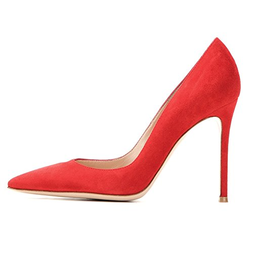 High Sexy Edefs Red Donna Heels Col Tacchi Decolte Alto A Scarpe Spillo Suede Tacco gqYwTIq