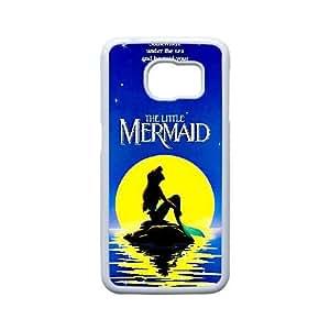 Generic for Samsung Galaxy S6 Edge Cell Phone Case White The Little Mermaid Custom HHLGLAHFJ1955