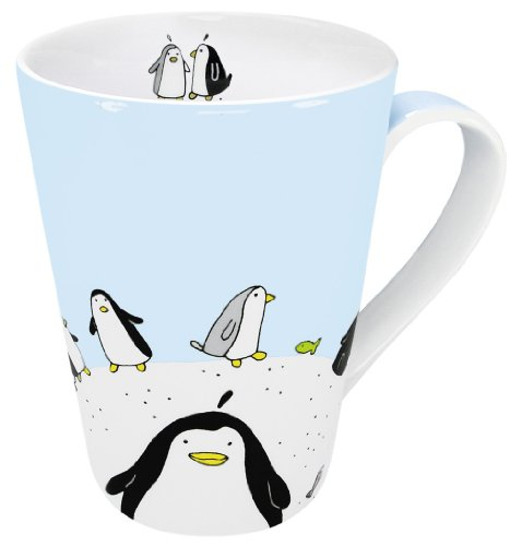 Konitz 13-Ounce Globetrotter Penguin Mugs, Assorted, Set of 4