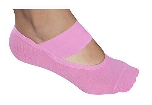 Lupo Women's Solid Yoga-Pilates Socks with Grippers