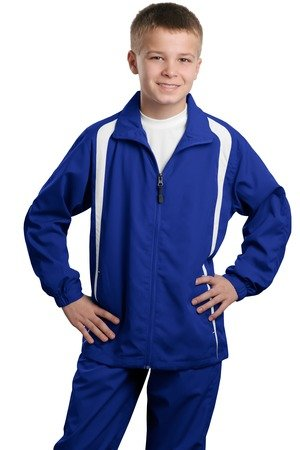 (Sport-Tek - Youth Colorblock Raglan Jacket. - True Royal/White - S)