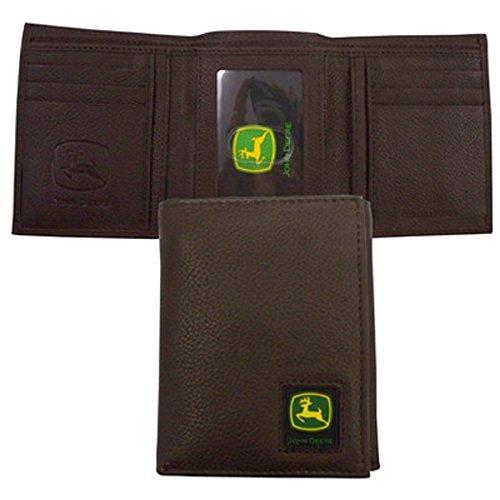 John Deere Black Tri-Fold Wallet with Logo Patch