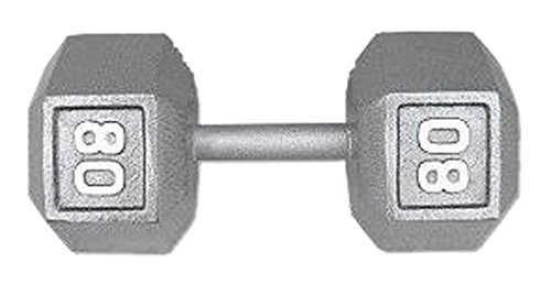 Champion Hex Dumbbell with Ergo Handle, 80-Pound