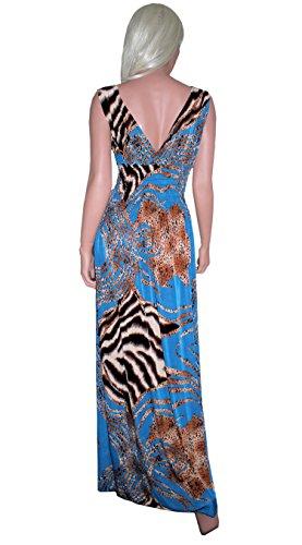 Raivar - Vestido - Sin mangas - para mujer Azul