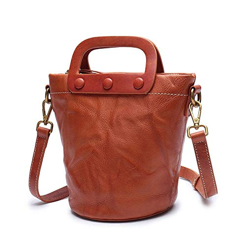 Sac en Main à GAOQQ Bucket Cowhide pour Cuir Handmade Shoulder Crossbody Mini Sacs Femmes Single Bag aqxFvT