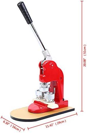 Paneltech 25mm / 32mm / 58mm Macchina per Badge Micro-macchina per badge (parti intercambiabili) - 500 componenti componenti, cutter rotondo e stampo (25mm)
