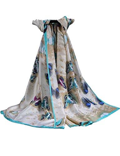 Silk Butterfly Print Dress - 9