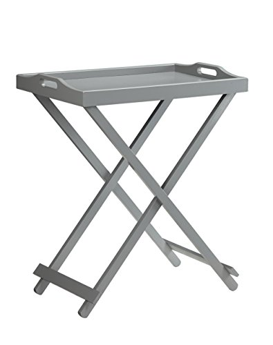 Convenience Concepts Designs2Go Folding Tray Table, Gray by Convenience Concepts