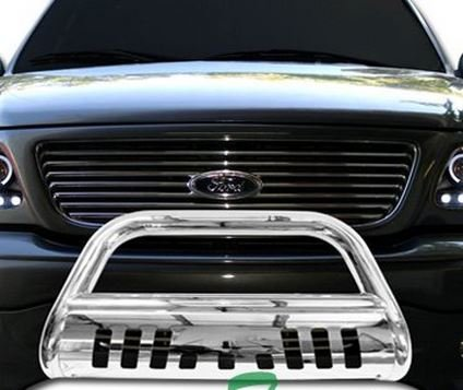 Chrome HAMMERED Stainless Steel Bull Bar Brush Bumper Grille Guard Nissan Titan Armada (Nissan Titan Accessories Grill compare prices)
