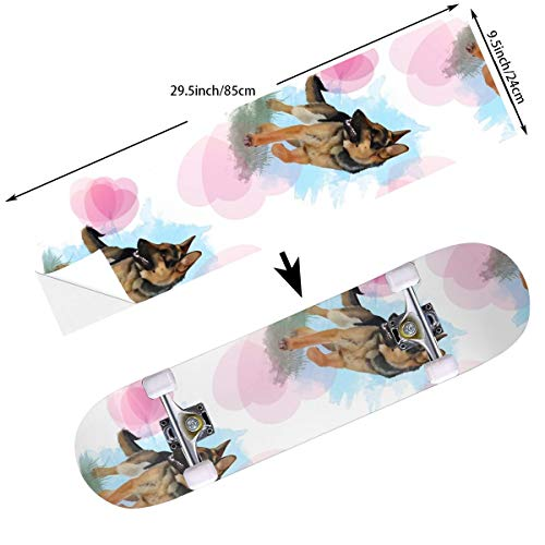 DADAISM German Shepherd Dog Lovers Skateboard Deck Grip