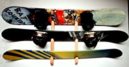 Snowboard Wall Rack Mount -- Holds 3 Boards