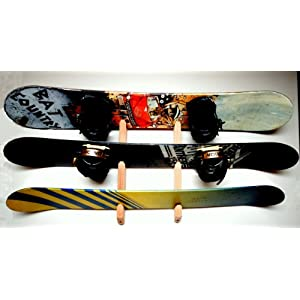 Snowboard Wall Rack Mount Holds 3 Boards