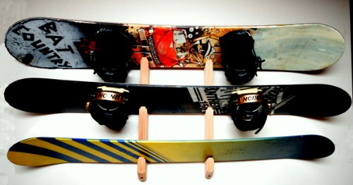 Snowboard Wall Rack Mount -- Holds 3 Boards by Pro Board Racks