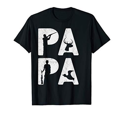 Mens Hunting Papa T-Shirt Hunter Buckin Papa Tee Hunt Gifts Shirt (Best Turkey Shotgun 2019)