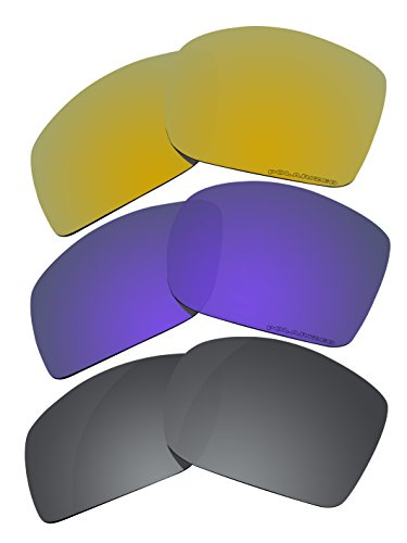 3 Pairs Polarized Lenses Replacement C50 for Oakley Big Taco ()