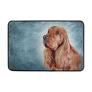 ALAZA My Daily English Cocker Spaniel Dog Doormat 15.7 x 23.6 inch, Living Room Bedroom Kitchen Bathroom Decorative Lightweight Foam Printed Rug 2