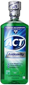 ACT Alcohol Free Anticavity Fluoride Rinse, Mint - 18 oz