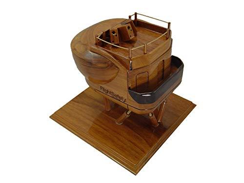 - Flight Simulator Mahogany wood desktop model