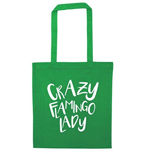Crazy lady tote Crazy flamingo bag flamingo Green wqdZd1