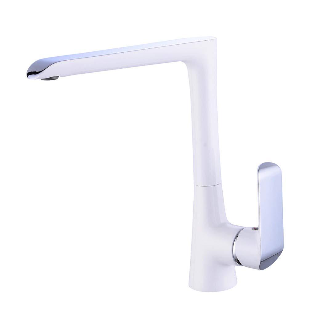 Edelstahl Einhand Wasserhähne Küche Küchen-Mischbatterie-Einlochmontage-Becken-Hahn Wasserhahn-Küchen-Chrom-Wannen-Mischer Drehbare Wasserhähne